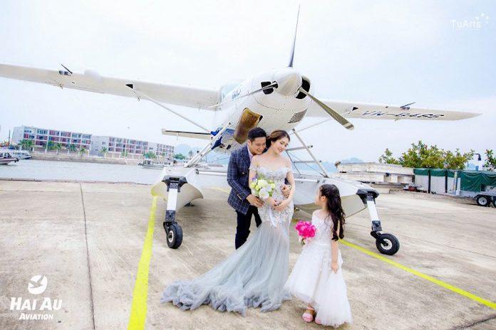 Minh Tiệp kỉ niệm ảnh cưới thuỷ phi cơ