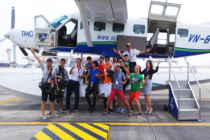 """Chương trình """"Bố ơi, mình đi đâu thế"""" đã có buổi ghi hình cùng thủy phi cơ của Hàng không Hải Âu (07/06/2016)"""