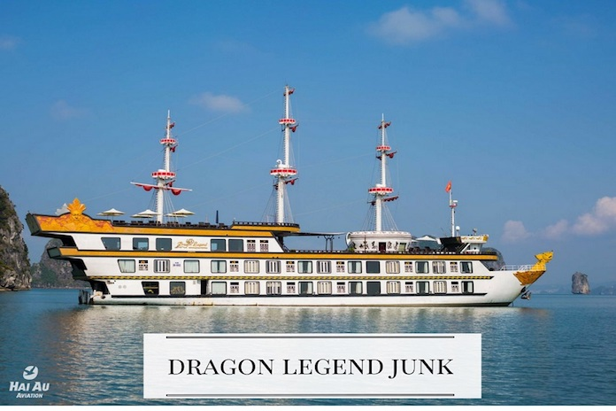 dragon legend junk recommended Halong Bay cruises