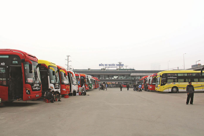 Coach station to travel from Hanoi to Halong Bay