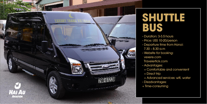 Shuttle Bus from Hanoi to Halong Bay