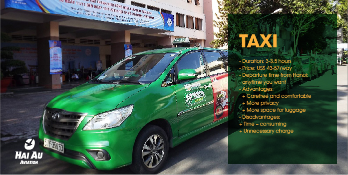 Taxi from Hanoi to Halong Bay