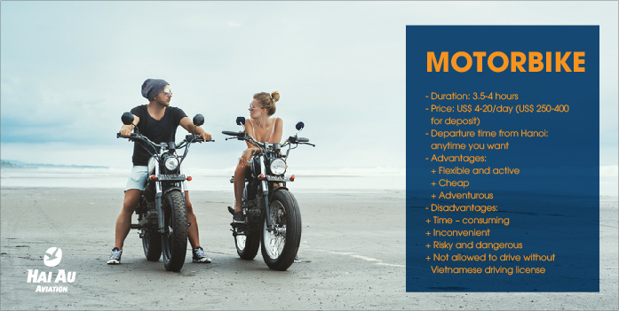 Motorbike from Hanoi to Halong Bay