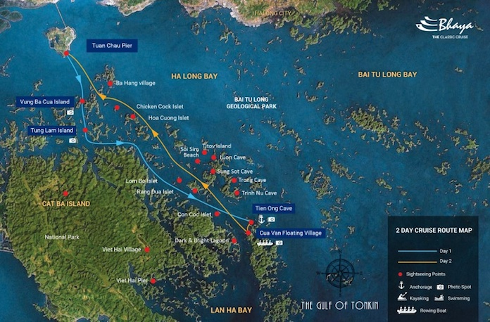 Halong bay cruise itinerary