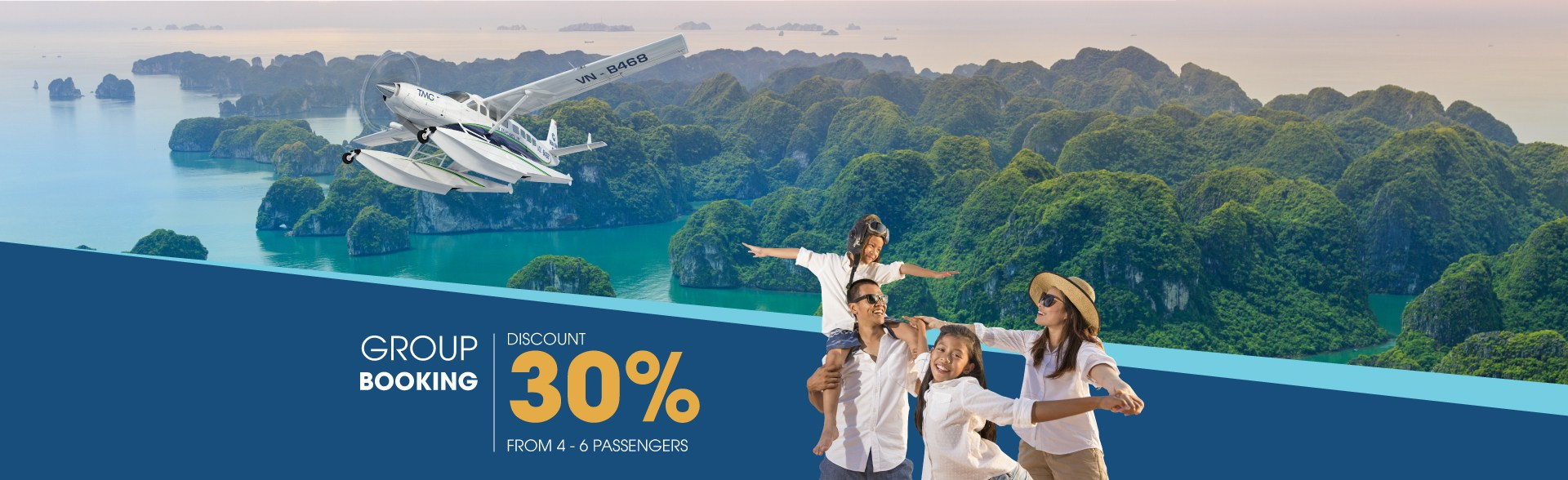 Group booking in Halong Bay - Discount 30%