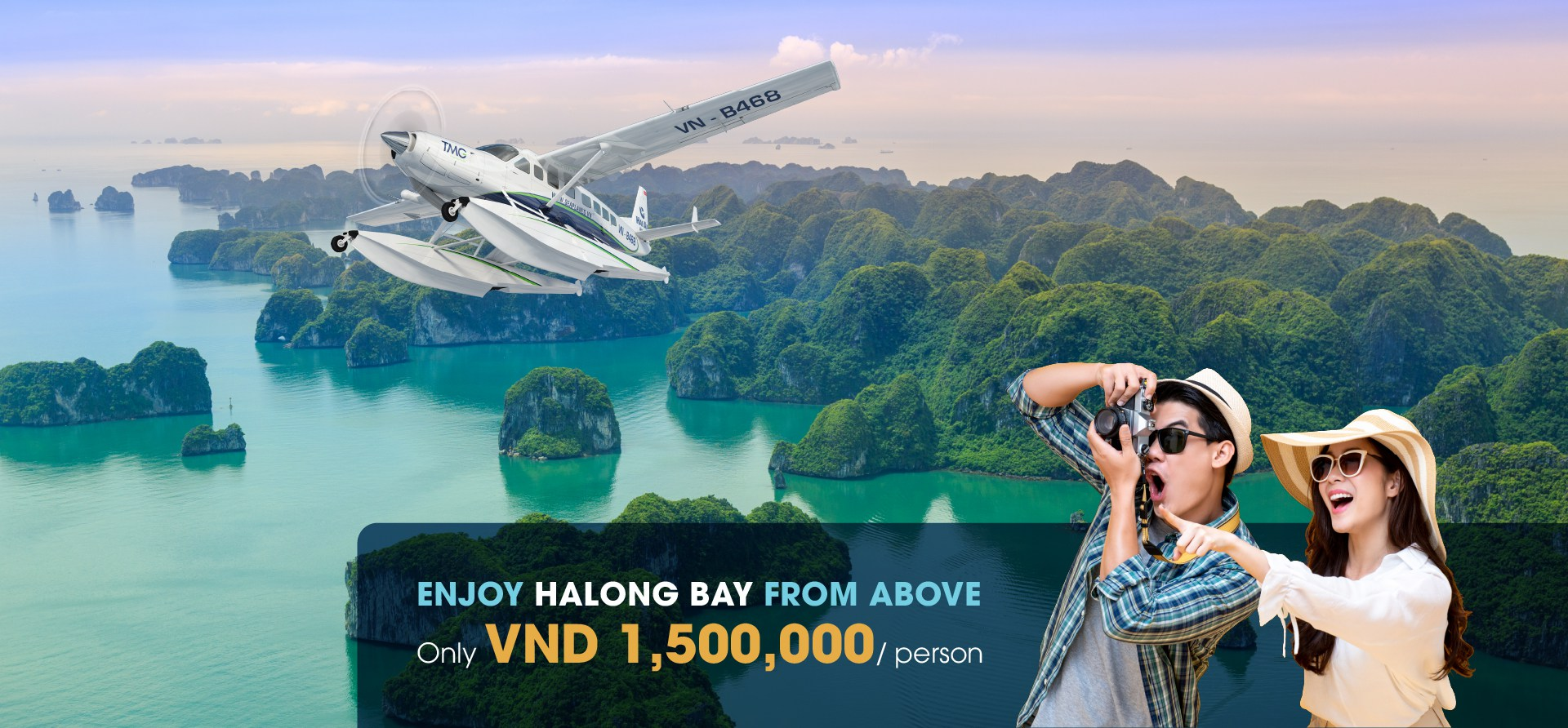 Enjoy Halong Bay from above - Only VND 1,500,000/person
