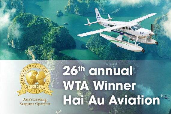 "Hai Au Aviation recognised as ""Asia's Leading Seaplane Operator 2019"" by World Travel Awards"