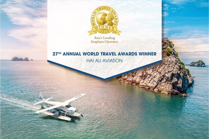 "Hai Au Aviation recognised as ""Asia's Leading Seaplane Operator 2020"" by World Travel Awards"