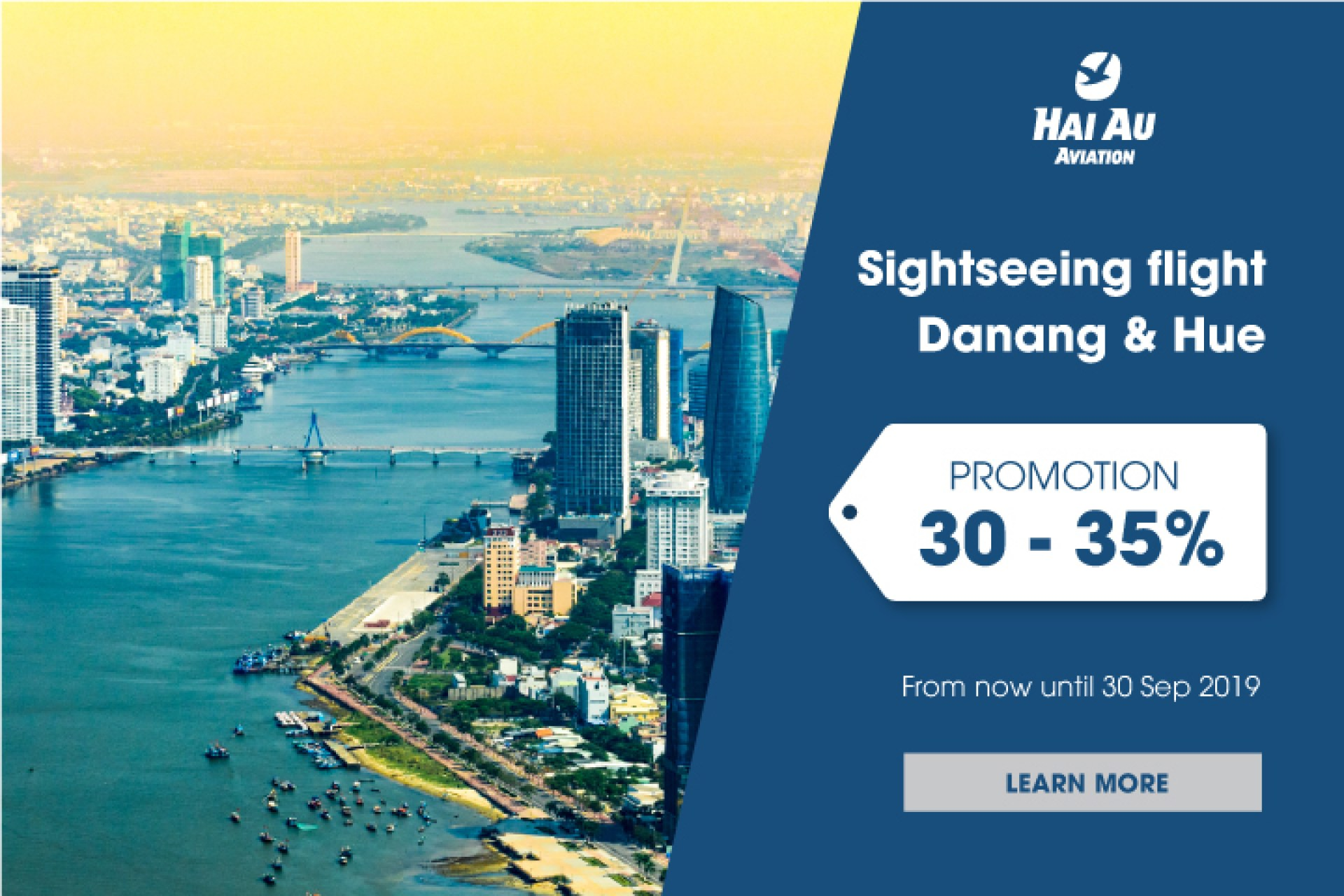 Ưu đãi đặc biệt 30-35% chặng bay Đà Nẵng – Huế