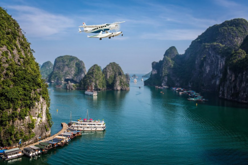 halong to hanoi seaplane